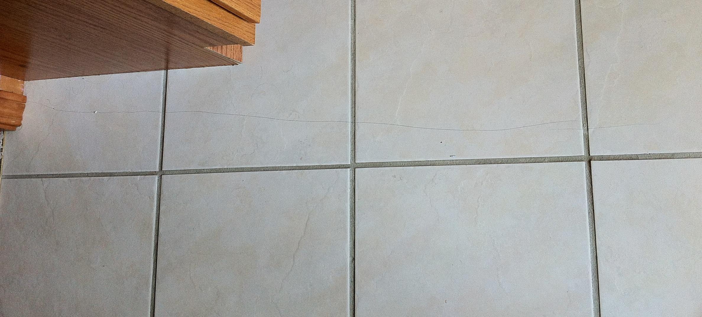 cracked tile in bathroom