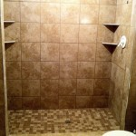 Tile Installed and Grouted, custom tile shower installation