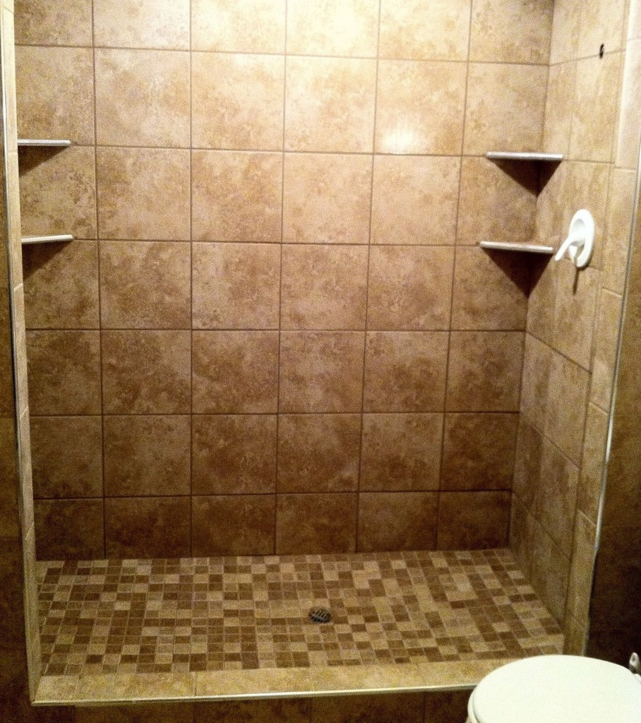 Tile installed and grouted columbia missouri bathroom remodel tile shower specialistscolumbia Install tile shower