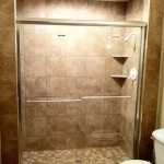 Complete Shower with new Shower Door, custom tile shower installation