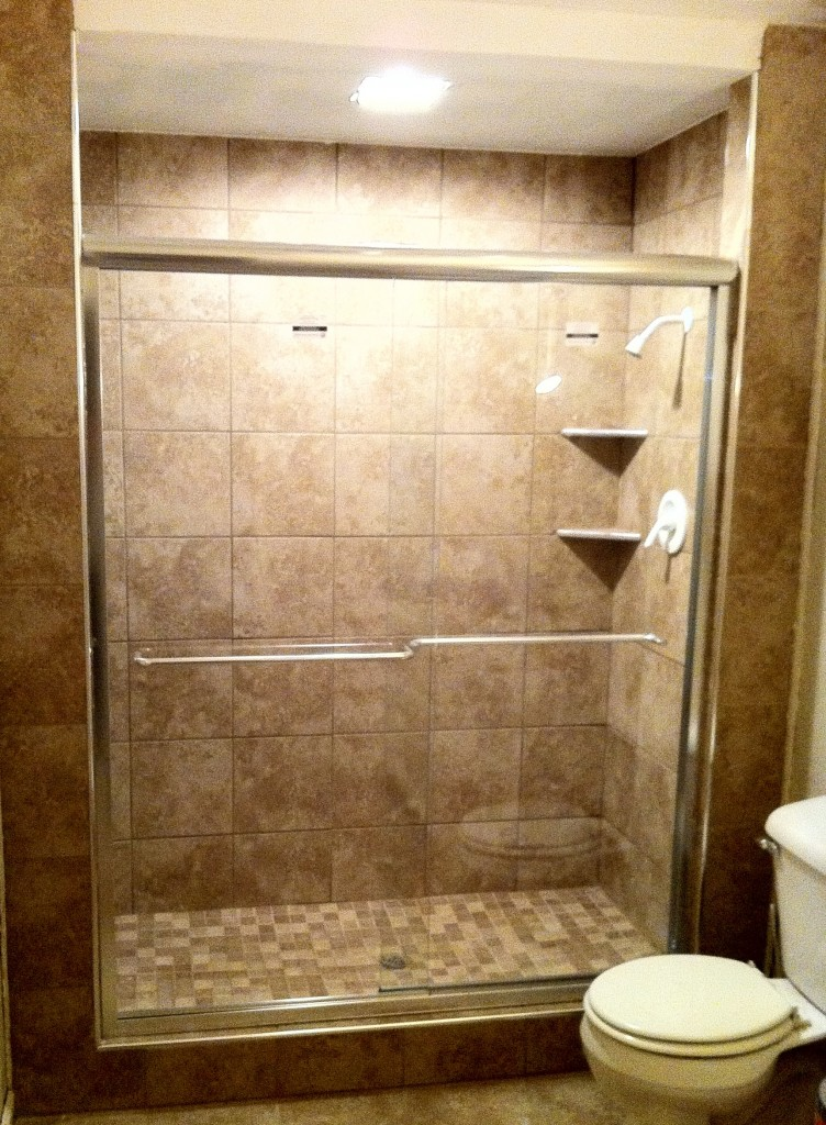 Complete shower with new shower door columbia missouri bathroom remodel tile shower specialists Bathroom remodel shower doors