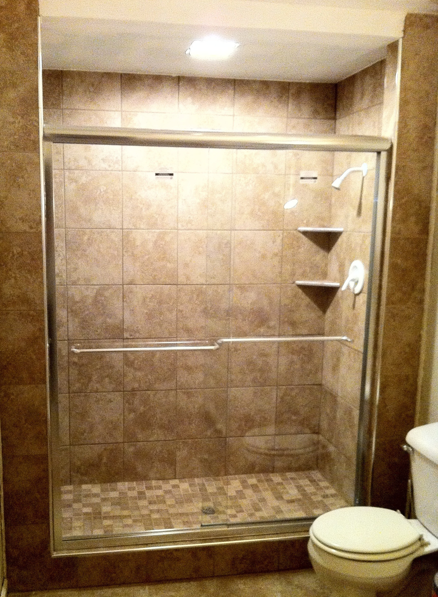 Bathroom remodel cost tile shower cost of tiling a bathroom bathroom - 1000 Images About Tiled Showers On Pinterest Colors