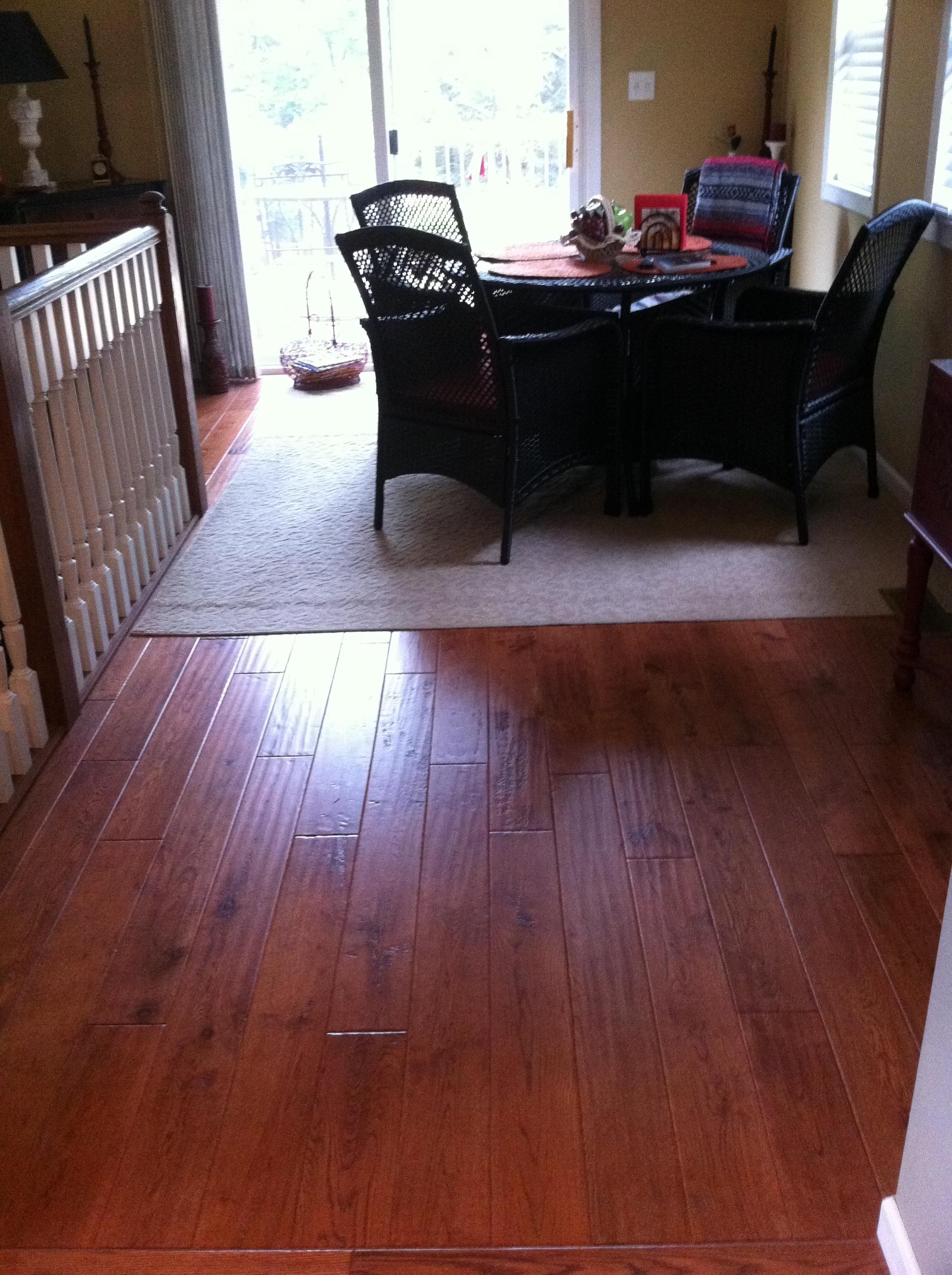 Hardwood floor complete