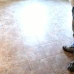 tile floor finished