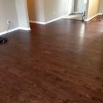 Floating engineered hardwood floor