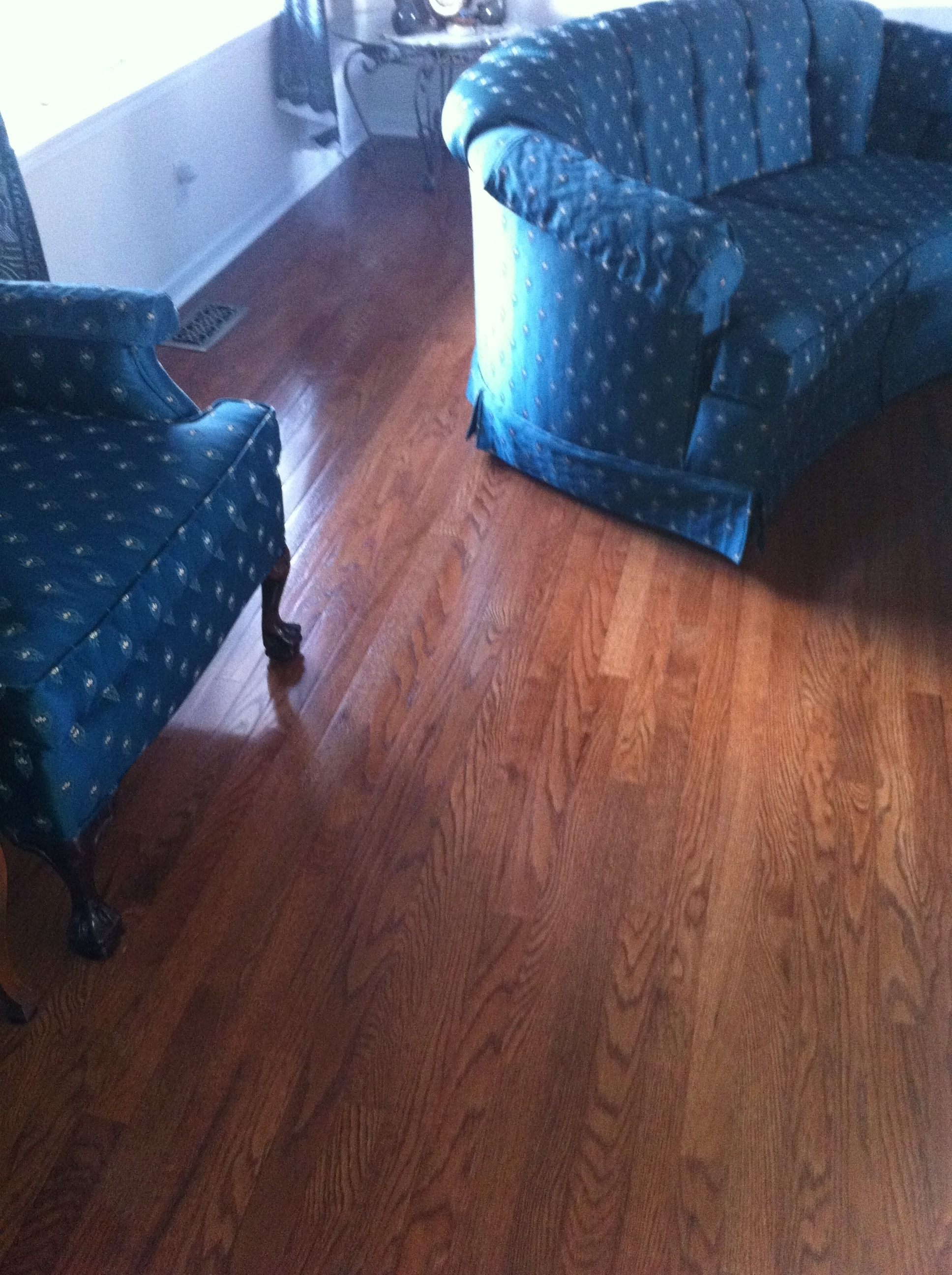 Complete hardwood installation living room