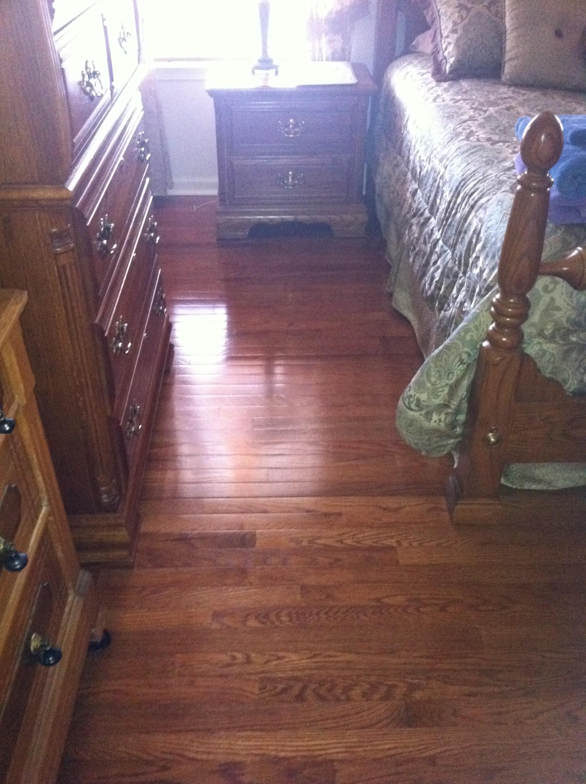 Hardwood installed in bedroom