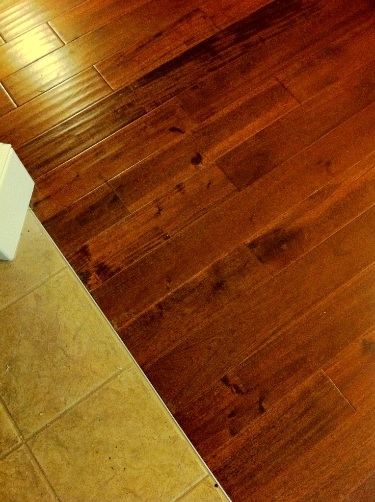 Hardwood floor to tile transition columbia missouri for Tile and hardwood floor