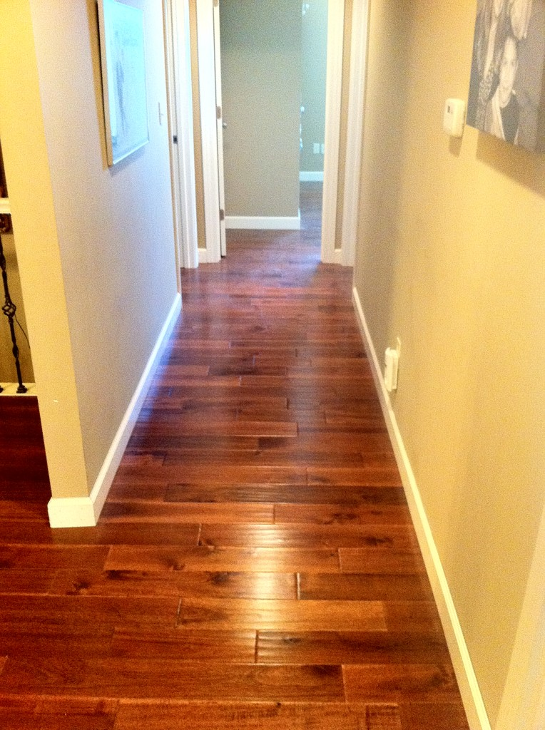 Hardwood Floor In Hallway Columbia Missouri Bathroom