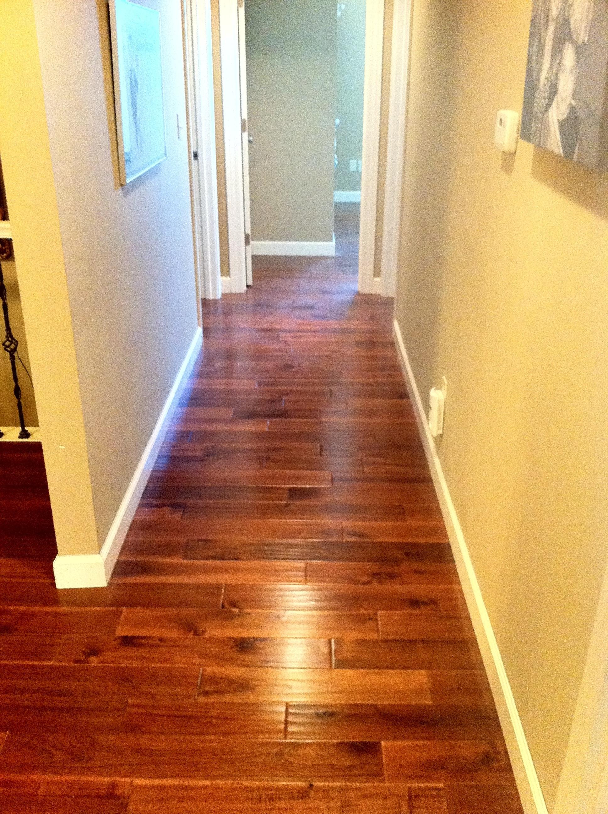 Hardwood Floor In Hallway Columbia Missouri Bathroom