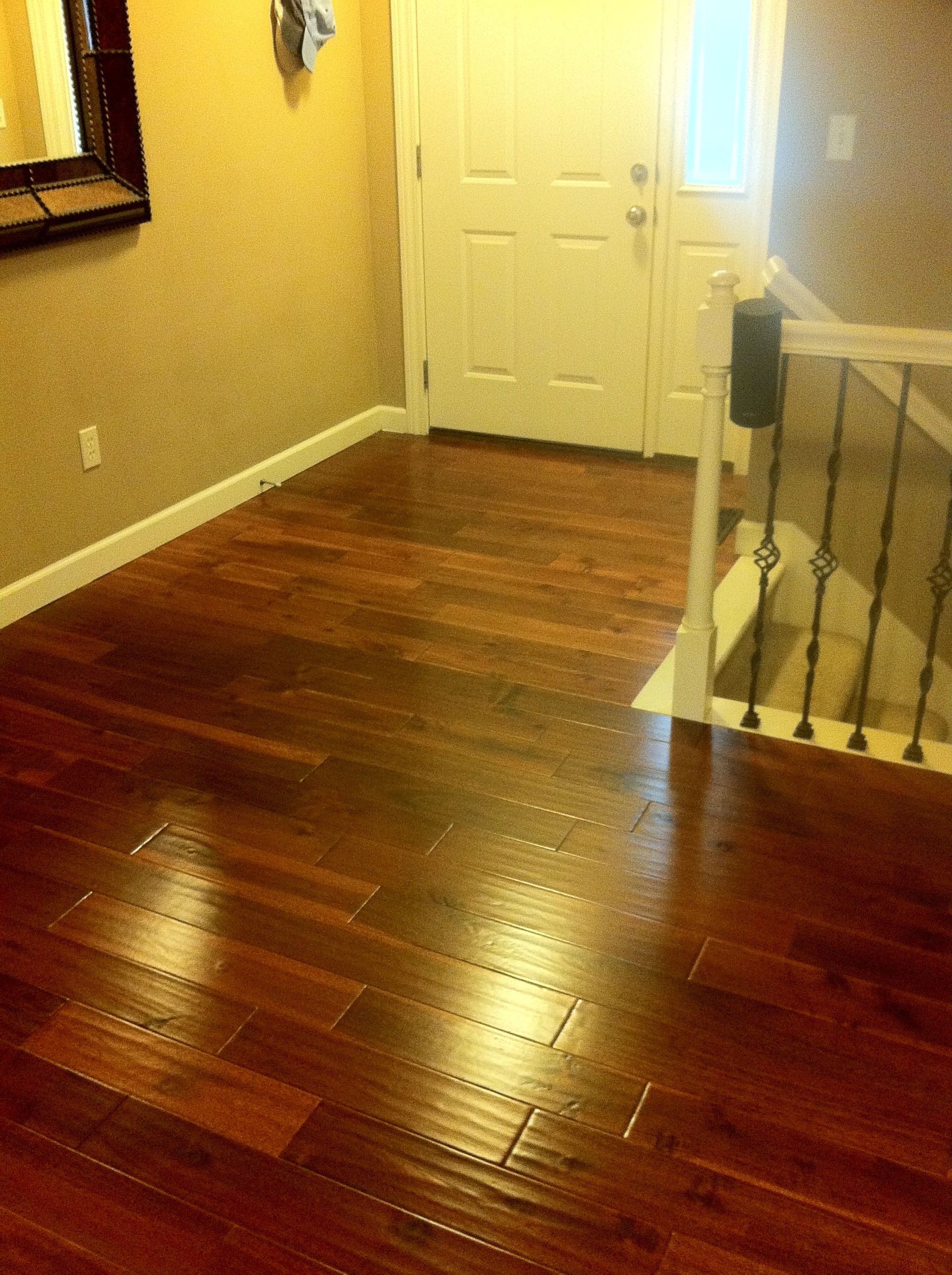 hardwood floor in entry columbia missouri bathroom