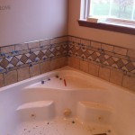 Columbia Missouri Tile installation custom boarder for jetted tub