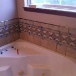 Columbia Missouri Tile installation custom jetted tub boarder