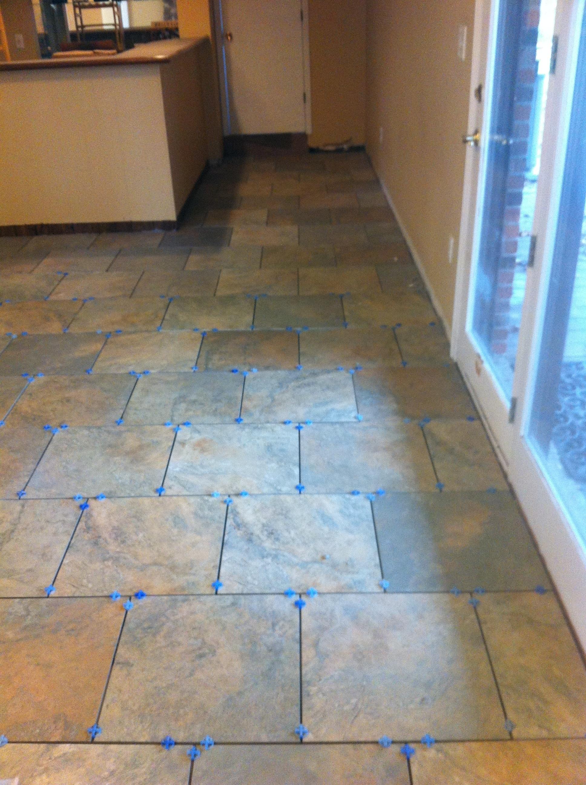 "Columbia Missouri Tile installation Fransican Slate Woodland Verde 18"" x 18"""