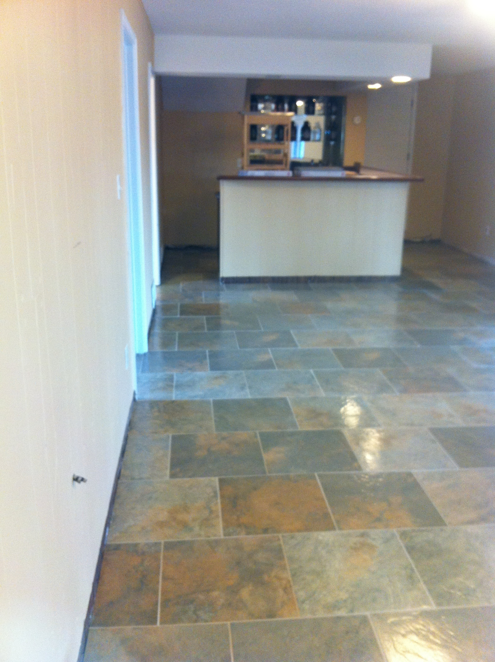 Tile installation complete - Columbia Missouri Bathroom Remodel ...