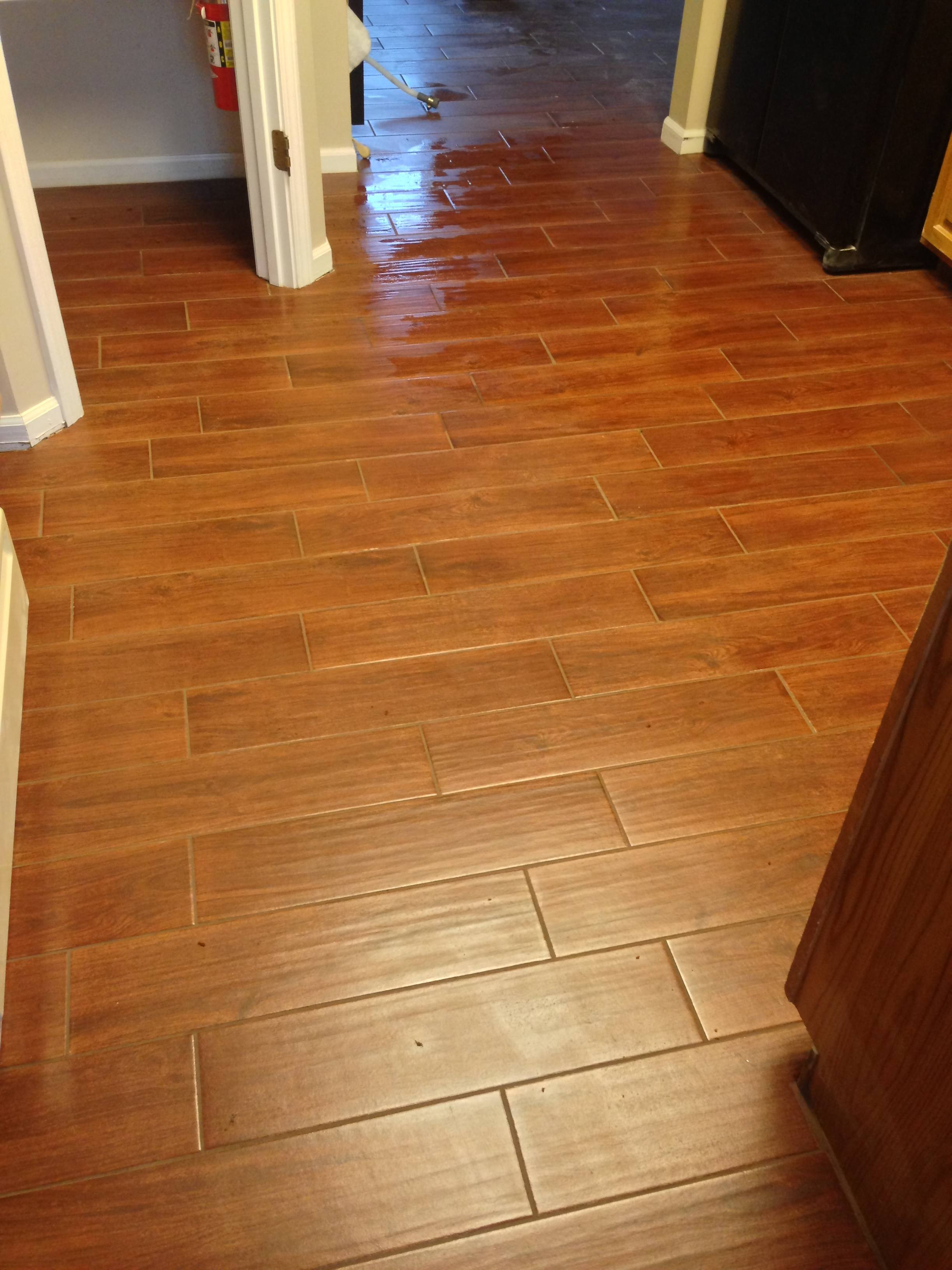 Wood Look Tile In Kitchen