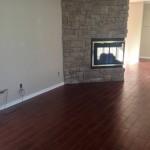 Columbia MO wood look tile fireplace