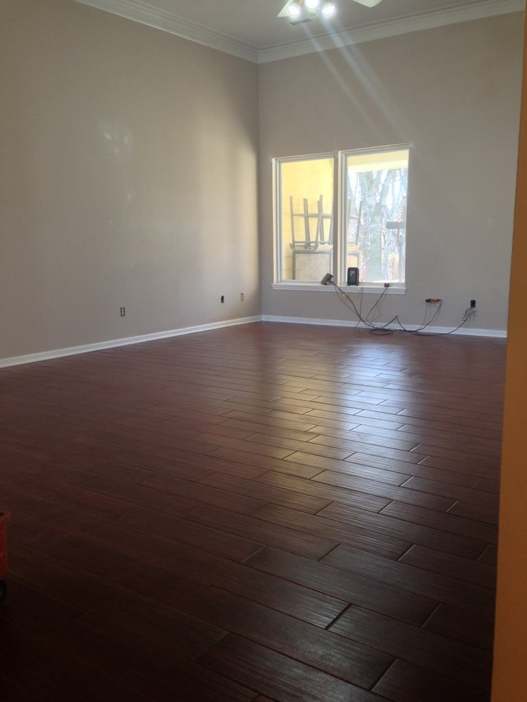 Columbia mo wood look tile living room columbia missouri - Wood look ceramic tile in living room ...