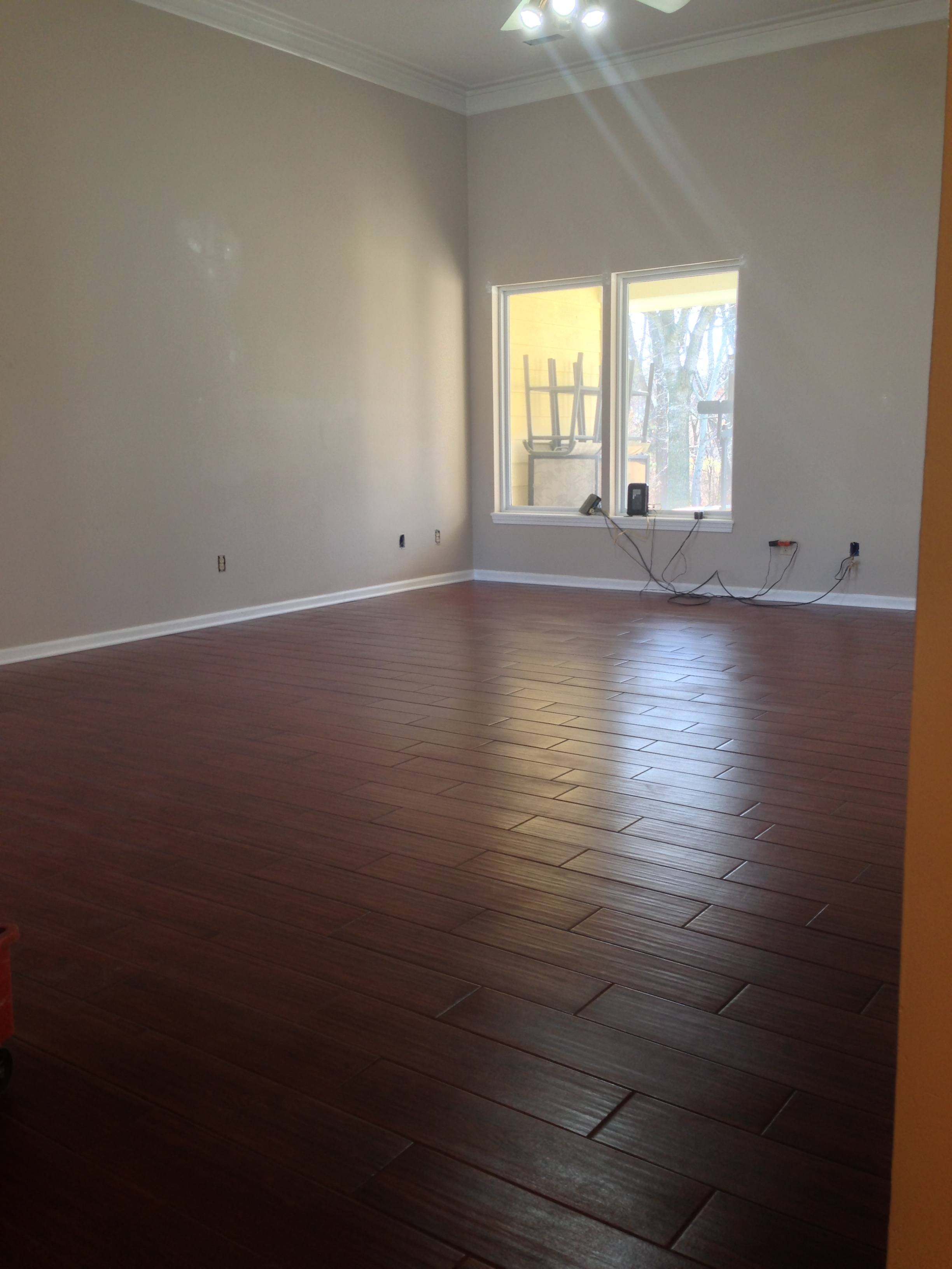 columbia mo wood look tile living room - columbia missouri