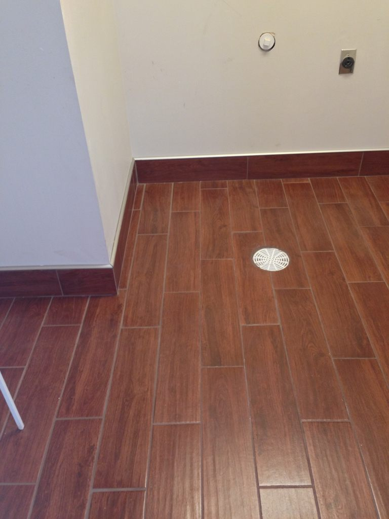 Wood Look Tile In Waterproof Laundry Columbia Missouri