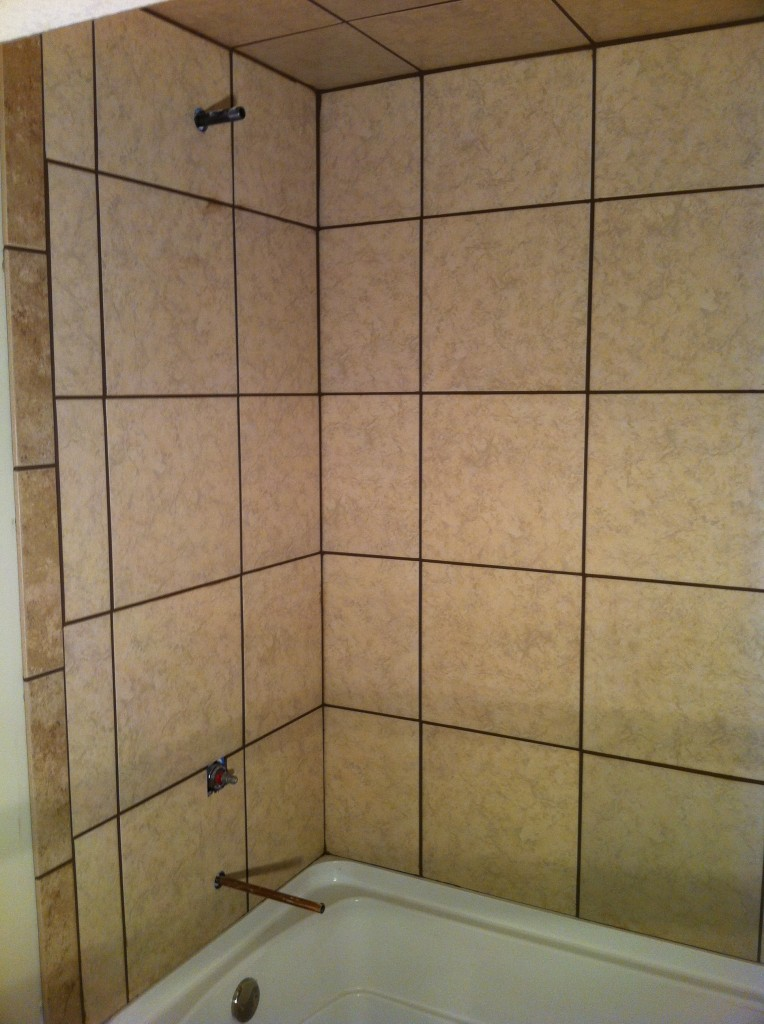 Basement Tile Tub Surround Columbia Missouri Bathroom