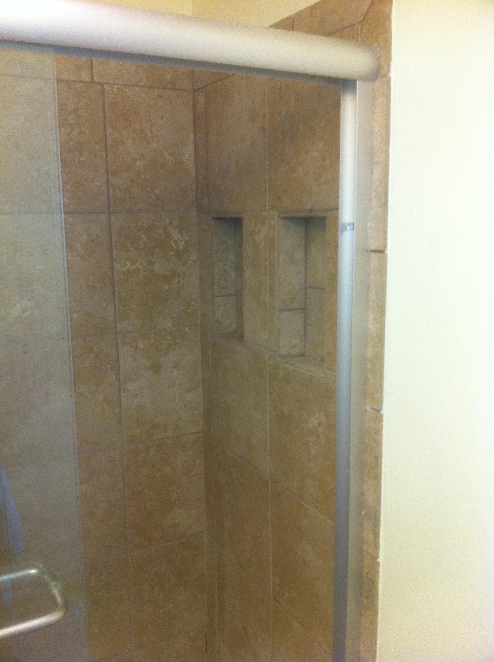 Opposite tile wall