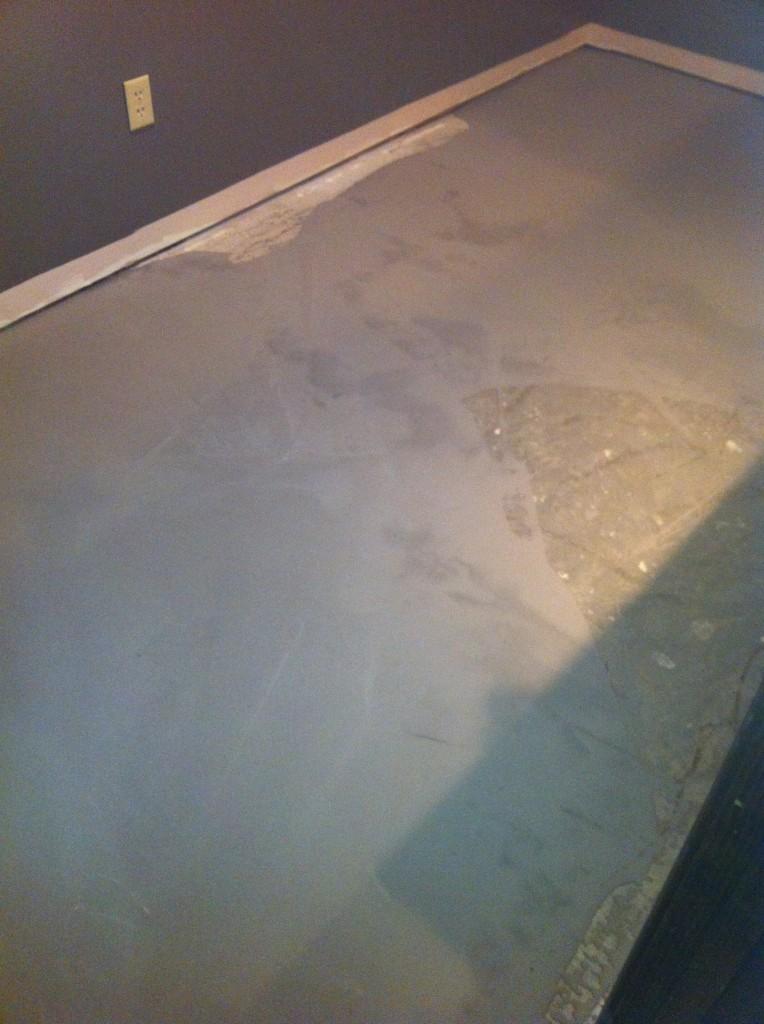 Self Leveling Bathroom : Self leveling cement applied columbia missouri bathroom