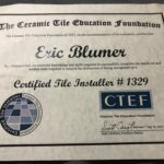 certified tile installer certificate, columbia missouri,